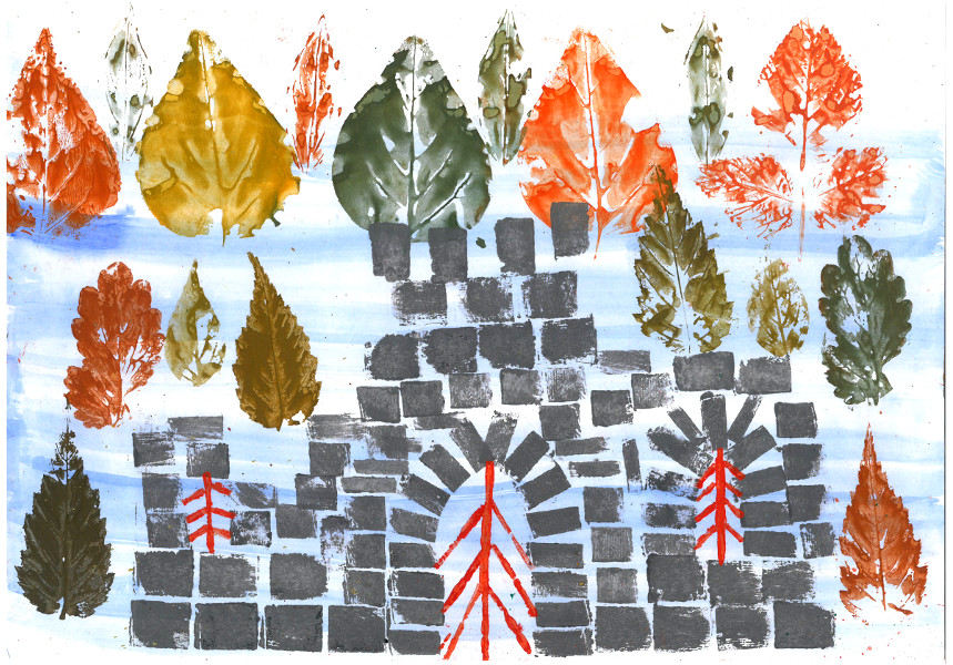 Wald mit Tor