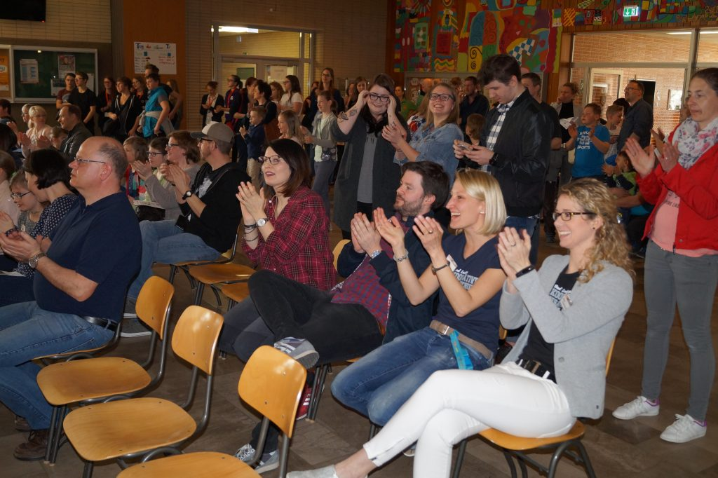 Applaus von den Lehrern