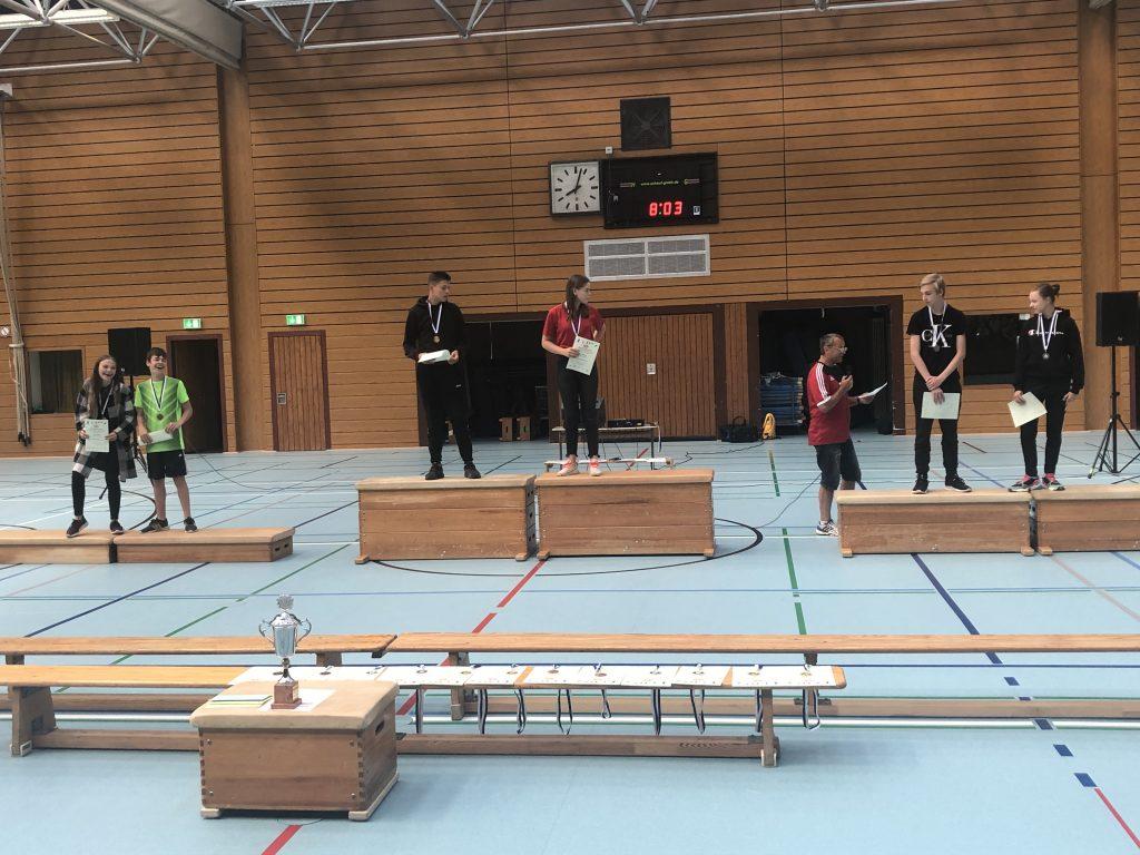 Siegerehrung Sportfest 2019 8. Klassen