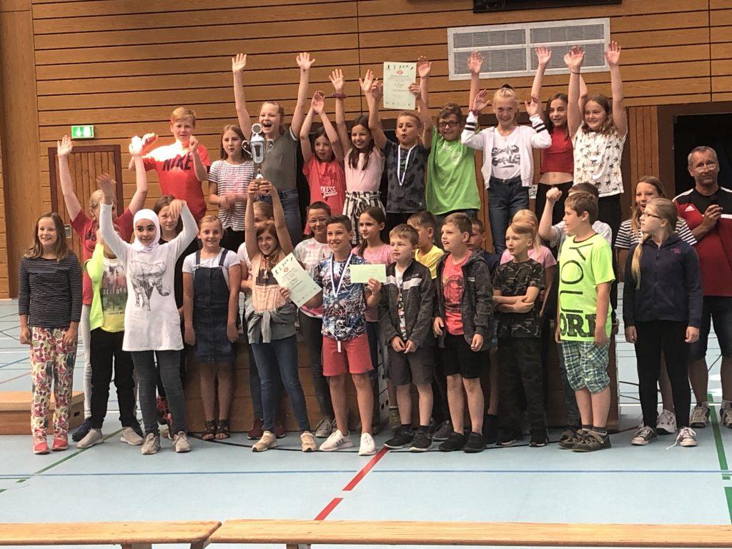 Siegerehrung Sportfest 2019 8R2 - 1. beste Platzierung